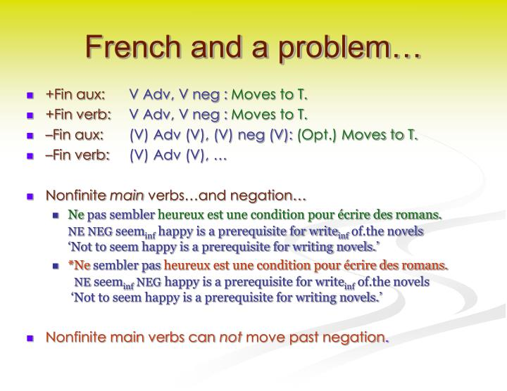 French and a problem…