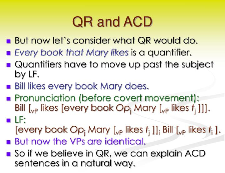 QR and ACD
