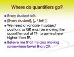 where do quantifiers go