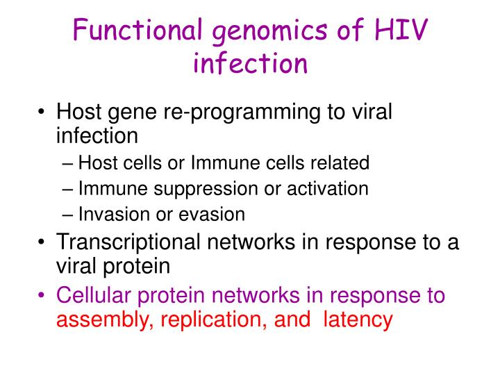 Functional genomics of HIV infection