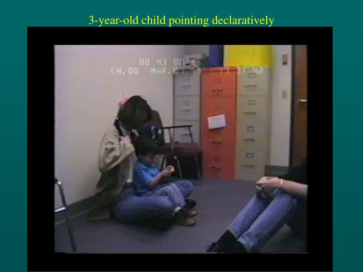 3-year-old child pointing declaratively
