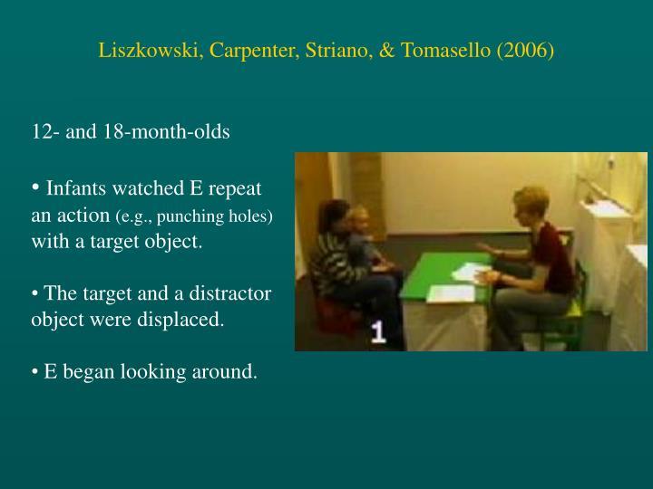 Liszkowski, Carpenter, Striano, & Tomasello (2006)