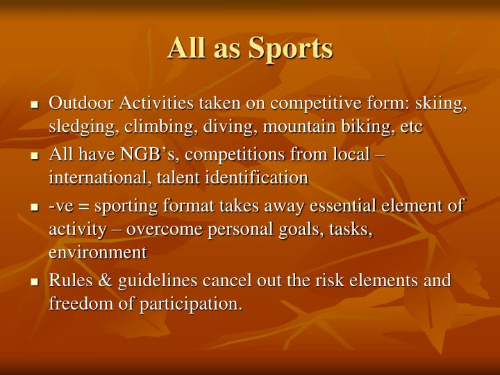 All as Sports