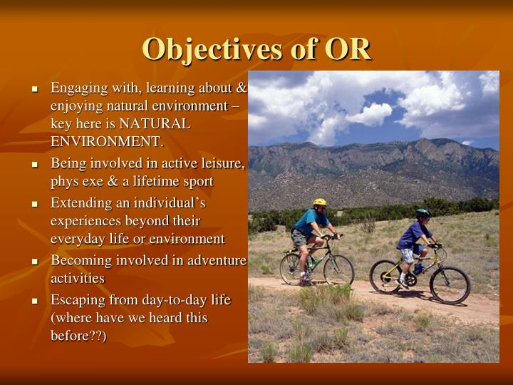 Objectives of OR