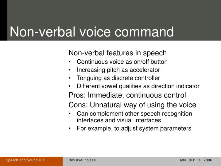 Non-verbal voice command
