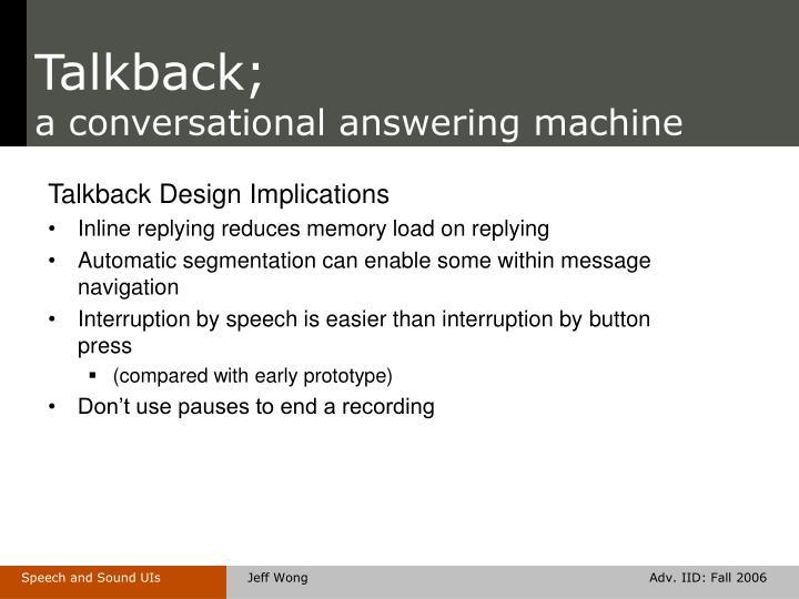 Talkback;