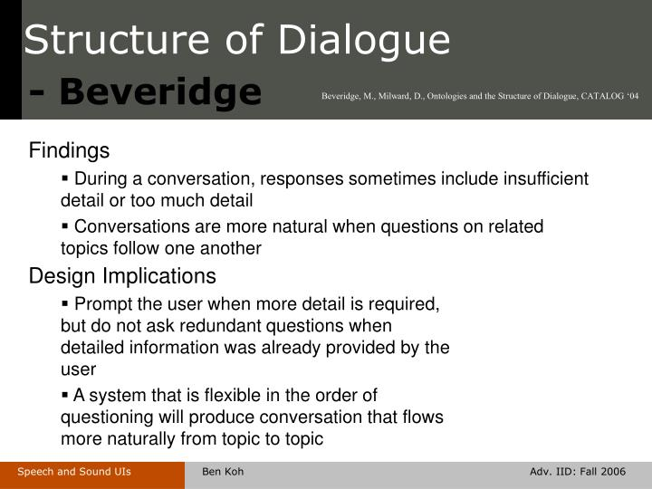 Structure of dialogue2