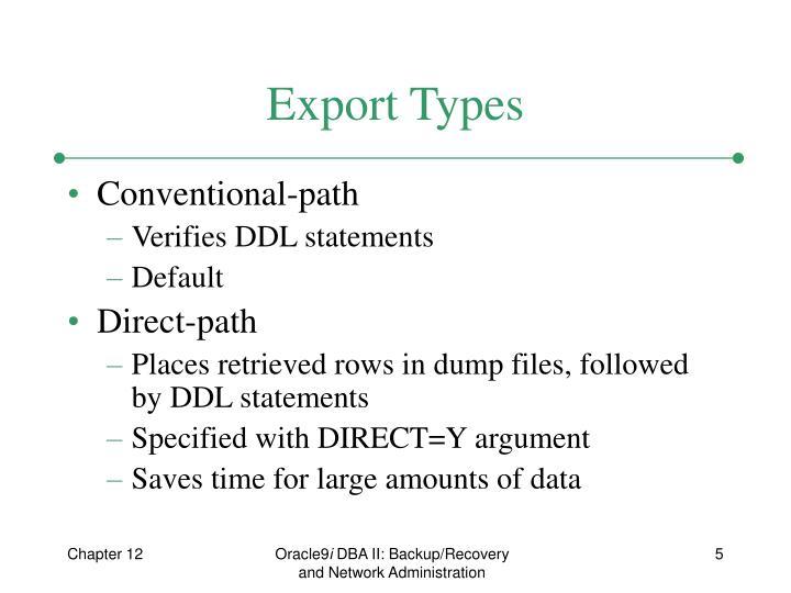 Export Types
