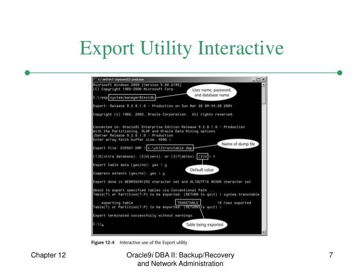 Export Utility Interactive