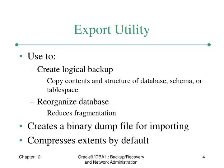 Export Utility