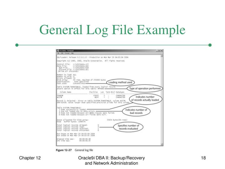 General Log File Example
