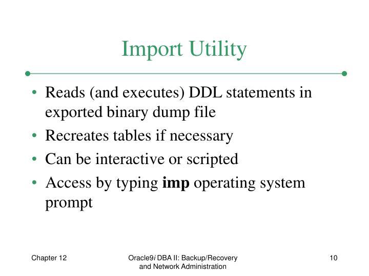 Import Utility