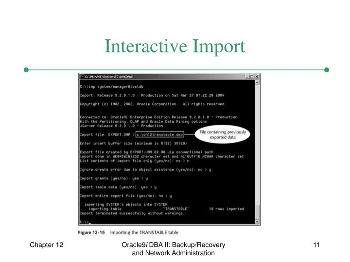 Interactive Import