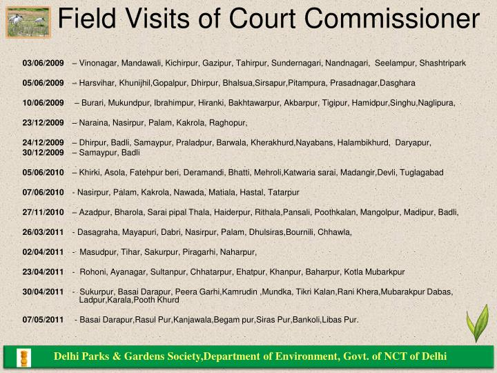 Delhi Parks & Gardens Society,Department of Environment, Govt. of NCT of Delhi