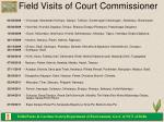 field visits of court commissioner