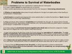 problems to survival of waterbodies
