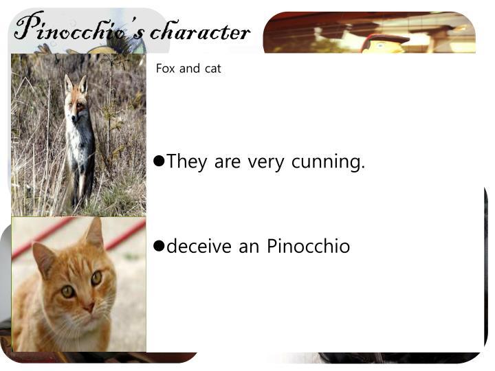 Pinocchio's character