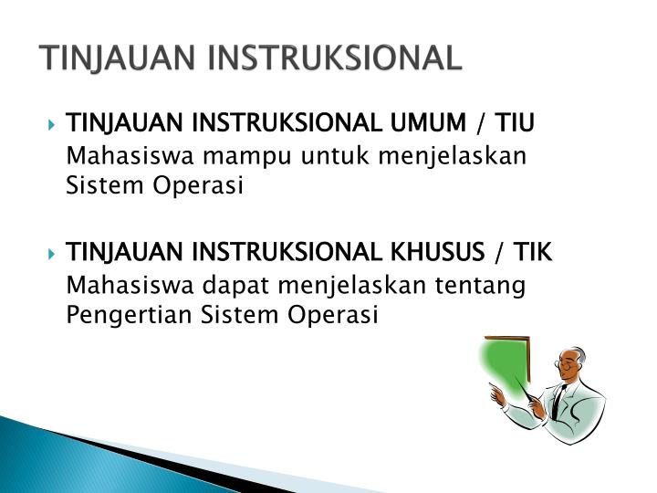 TINJAUAN INSTRUKSIONAL