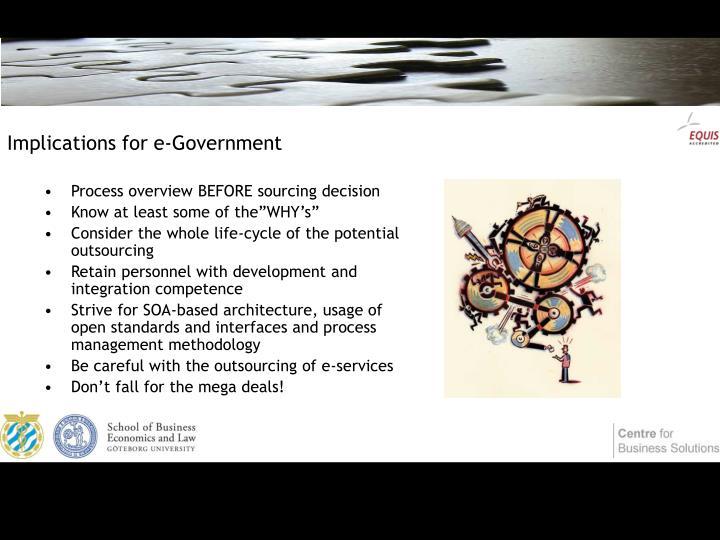 Implications for e-Government