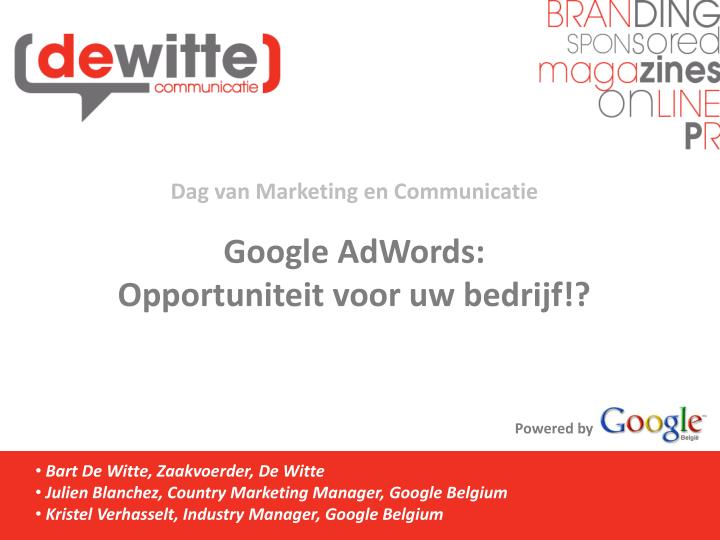 Dag van Marketing en Communicatie