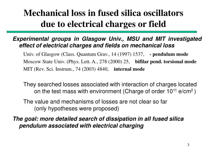 Mechanical loss in fused silica oscillators due to electrical charges or field