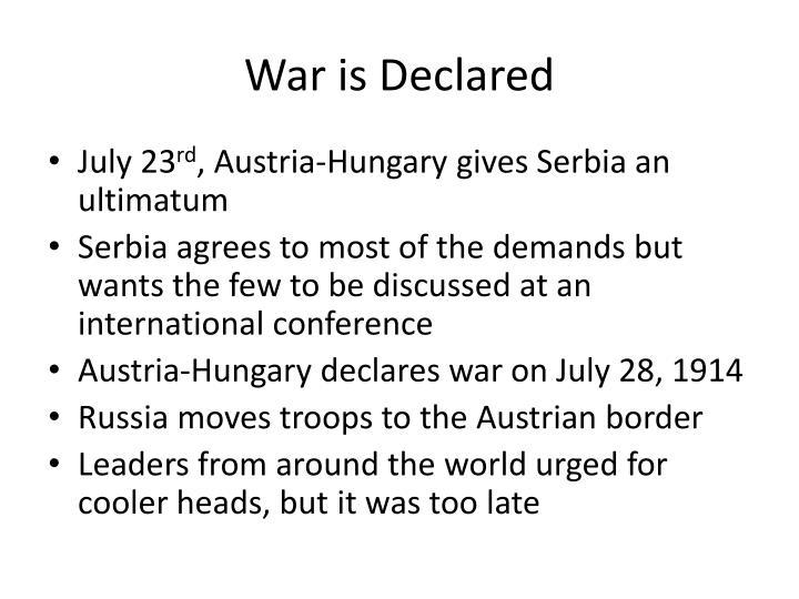War is Declared
