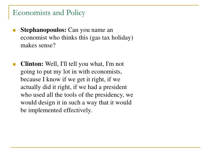 Economists and Policy