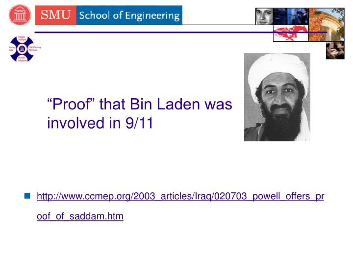 """Proof"" that Bin Laden was involved in 9/11"
