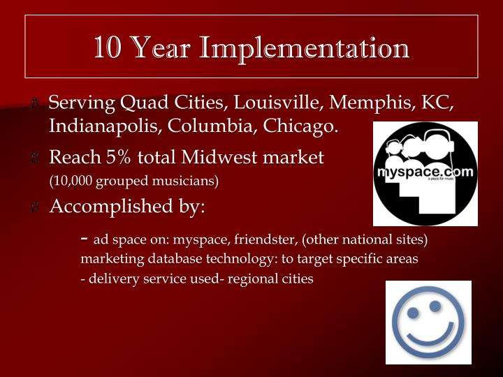 10 Year Implementation