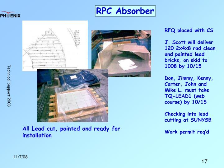 RPC Absorber