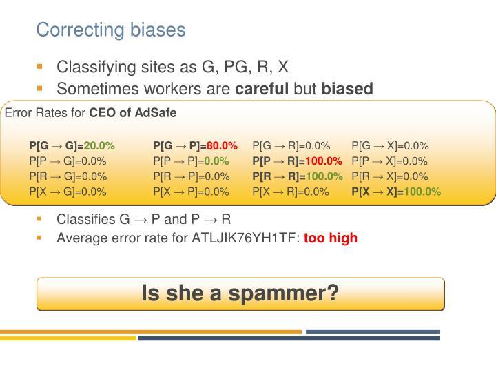 Correcting biases