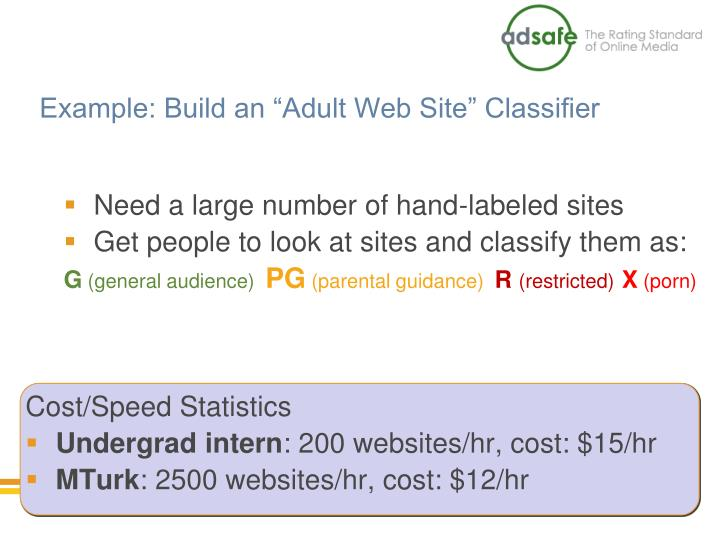 "Example: Build an ""Adult Web Site"" Classifier"