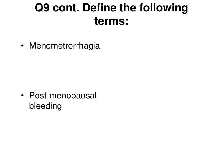 Menometrorrhagia