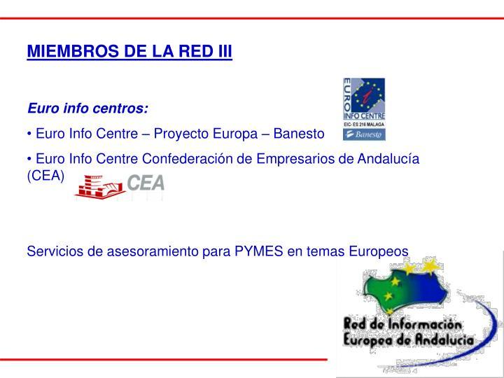 MIEMBROS DE LA RED III