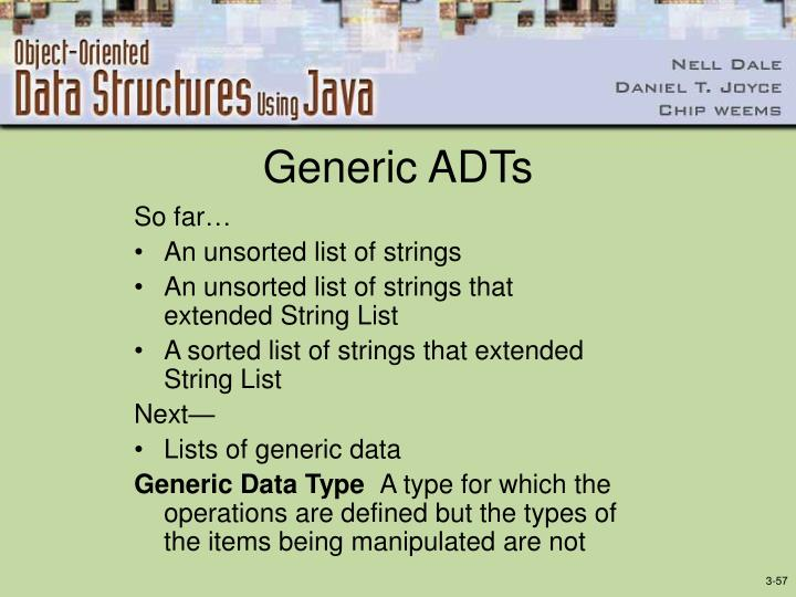 Generic ADTs