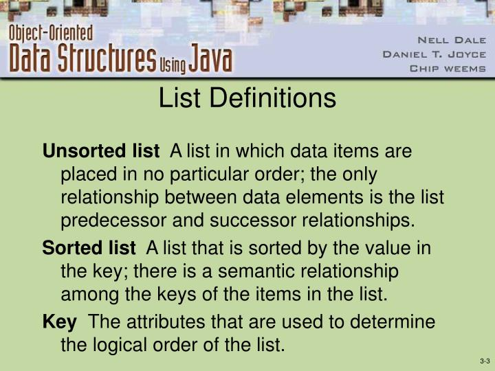 List definitions1