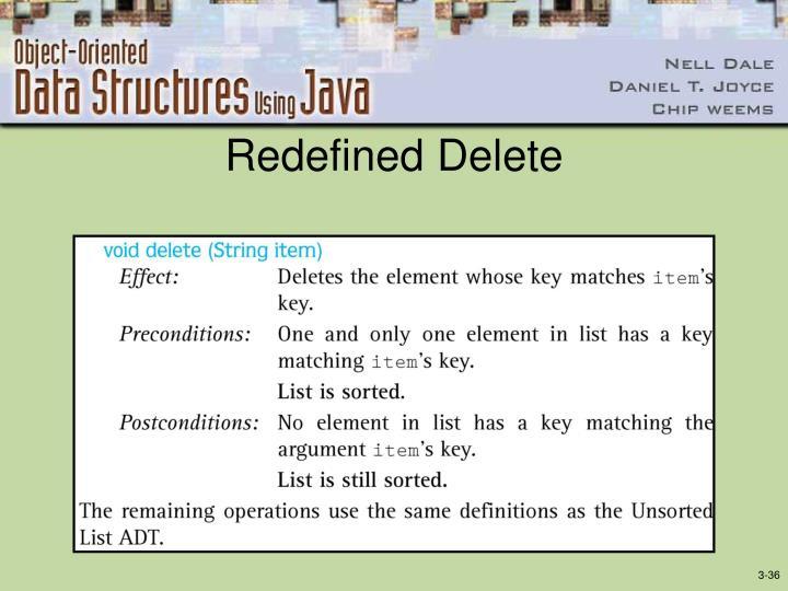 Redefined Delete