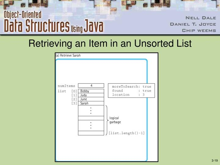 Retrieving an Item in an Unsorted List