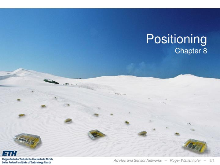Positioning chapter 8