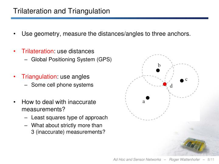 Trilateration and Triangulation