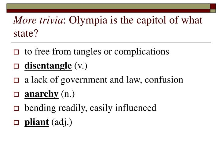 More trivia