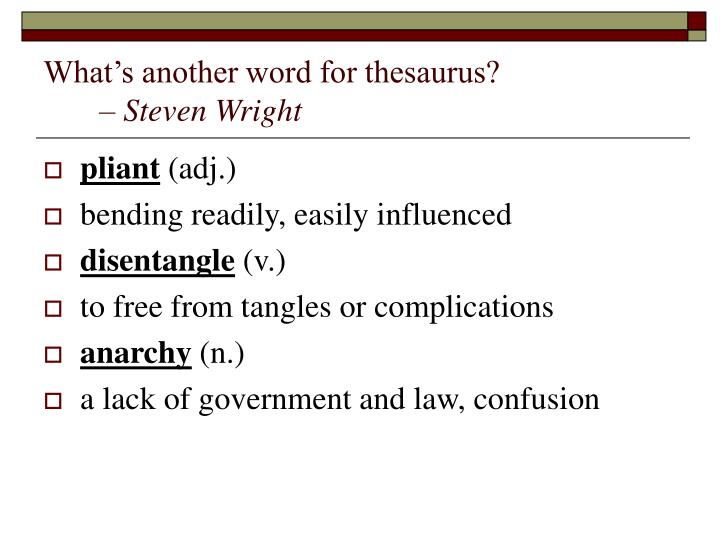 What's another word for thesaurus?