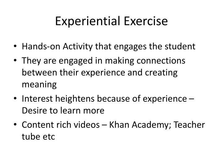 Experiential Exercise