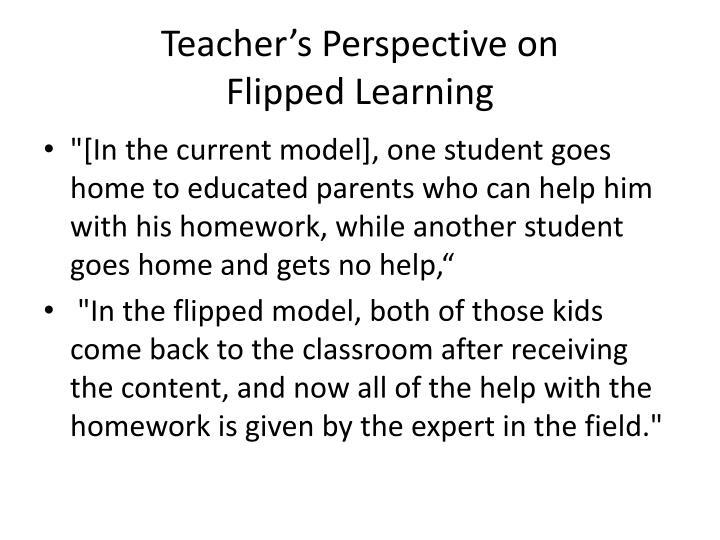 Teacher's Perspective on