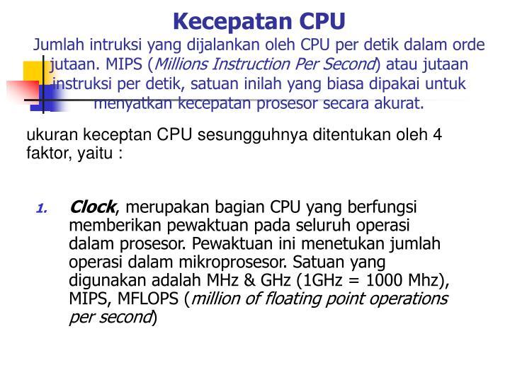 Kecepatan CPU