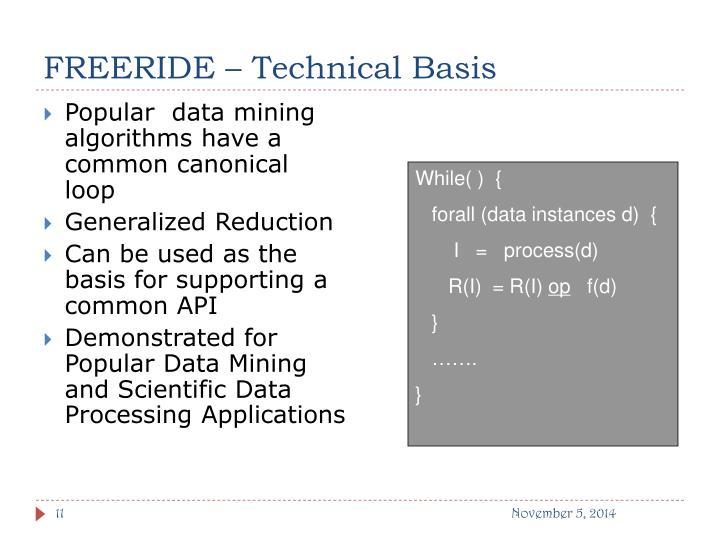 FREERIDE – Technical Basis