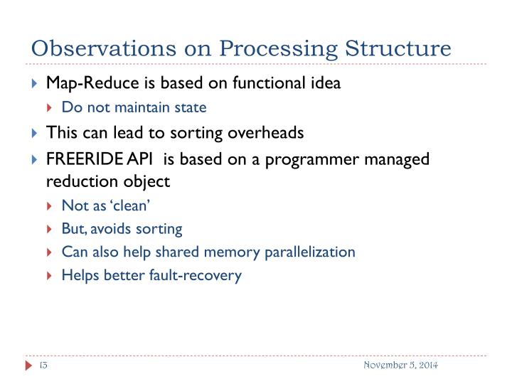 Observations on Processing Structure