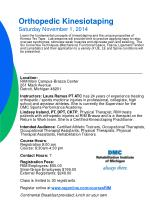 orthopedic kinesiotaping saturday november 1 2014