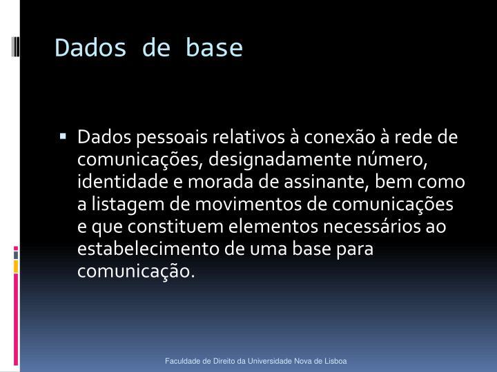 Dados de base
