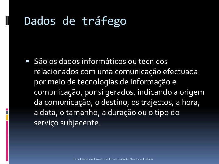 Dados de tráfego